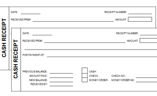 cash receipt template - Free Cash Receipt Template