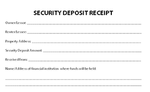 Deposit Receipt Template  Free Rental Receipts