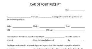 deposit receipts template