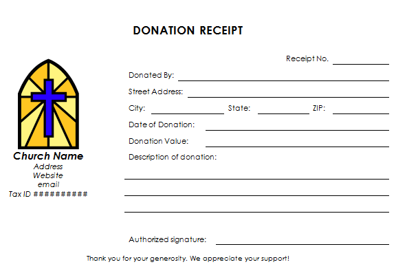 Church Donation Receipt Template - Donation invoice template