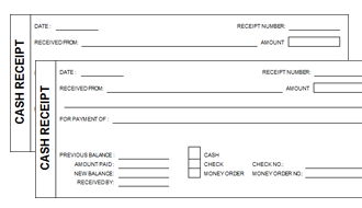 free cash receipt template for word