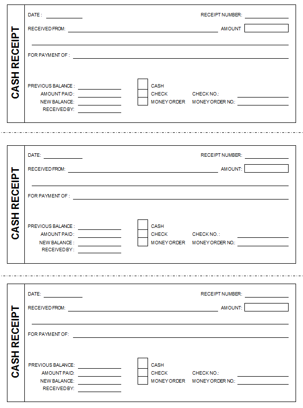 free cash receipt template for word, Invoice examples