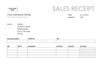 Free Sales Receipt Template