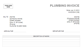 plumbing invoice template download a free plumbing invoice template